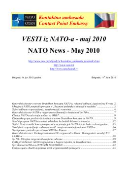 VESTI iz NATO-a - maj 2010 NATO News