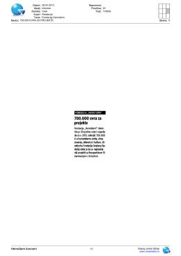 Informer - Vesti - Fondacija Hemofarm