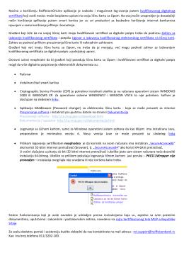 Uputstvo za rad sa ličnom kartom