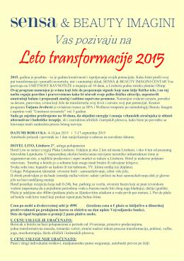 Leto transformacije 2015