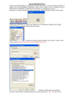 Повезивање Delphi-ja и базе података (ADO)