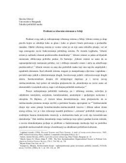 Slavisa Orlovic- Problemi sa izbornim sistemom u Srbiji