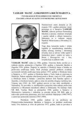 VASILIJE VAJO MATIĆ - LOKOMOTIVA BiH