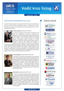 Vo dič kroz lizing - Asocijacija lizing kompanija Srbije