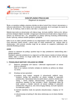 2012_Serbo-croate_Réglement de discipline