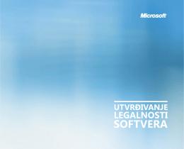 Utvrđivanje legalnosti softvera