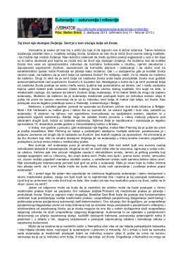 Eutanazija – autonomija i milosrdje