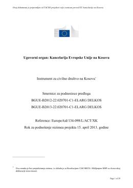 Ugovorni organ: Kancelarija Evropske Unije na Kosovu