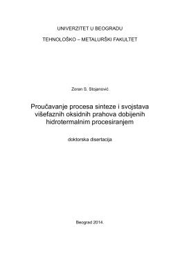 Zoran_Stojanovic_PhD-01.pdf - Institut tehničkih nauka SANU
