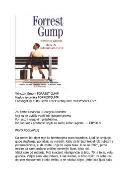 Winston Groom FORREST GUMP Naslov izvornika
