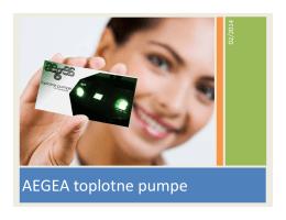 AEGEA toplotne pumpe