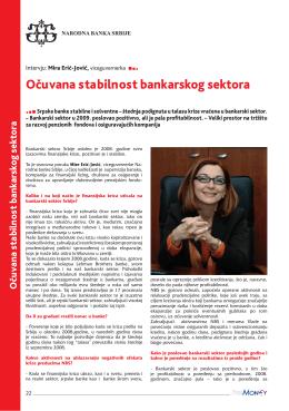 očuvana stabilnost bankarskog sektora
