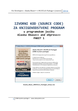 IZVORNI KOD (SOURCE CODE) ZA KNJIGOVODSTVENI PROGRAM