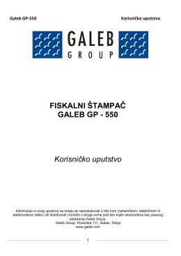 Galeb GP-550: Korisnicko uputstvo