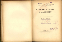 NARODNA Č ITANKA. O ALKOHOLU
