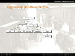 Organizacija podataka na disku