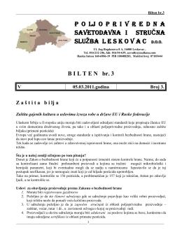 Leskovac - Poljoprivredna Savetodavna i Stručna Služba Srbije