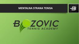 MENTALNA STRANA TENISA - Bozovic Tennis Academy