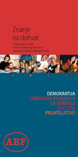 demokratija liberalna edukacija za odrasle kultura prijateljstvo