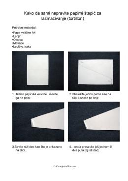 Kako da sami napravite papirni štapić za razmazivanje (tortillon)