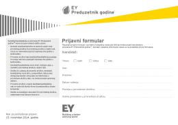 EOY prijavni formular 2014