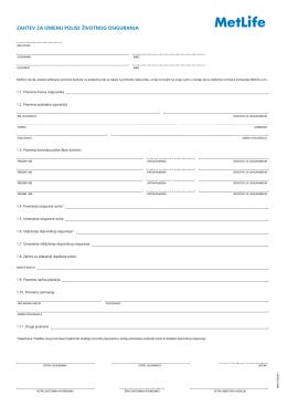 Formular za izmenu podataka na polisi