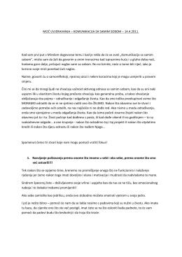 MOĆ UVJERAVANJA – KOMUNIKACIJA SA SAMIM SOBOM – 14.4