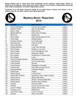 Mystery Bend / Repertoar 2014