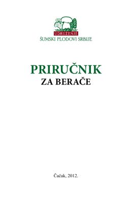 priručnik za berače - Šumski plodovi Srbije