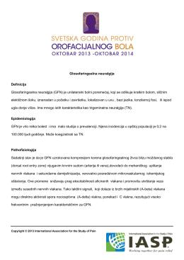 Glosofaringealna neuralgija Definicija Glosofaringealna neuralgija