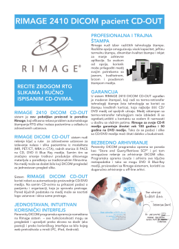 RIMAGE 2410 DICOM pacient CD-OUT - e