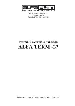 štednjak za etažno grejanje alfa term -27