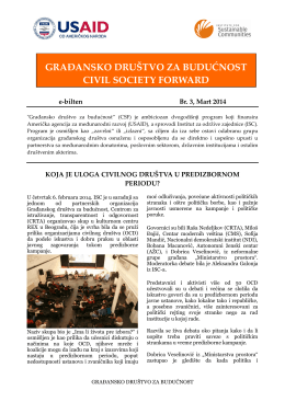 ISC Serbia Newsletter No.3 - ISC-a