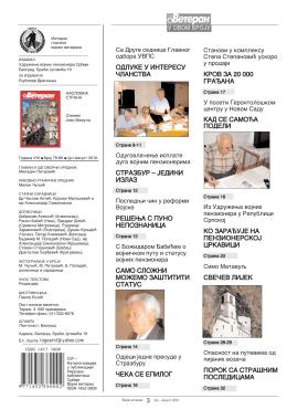 Број 79-80 / Стране 3-34 - Udruženje Vojnih Penzionera Srbije