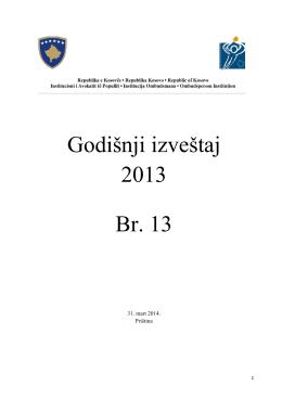 18 JUNI 2014 Godišnji izveštaj 2013