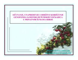 Genofond šumskih voćkarica - preuzmite (pdf format)