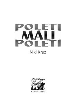 POLETI MALI POLETI / Niki Kruz