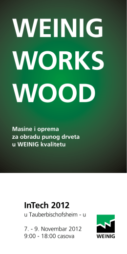 WEINIG WORKS WOOD - Mw