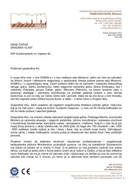 Kompletno otvoreno pismo gradonačelniku grada Čačka
