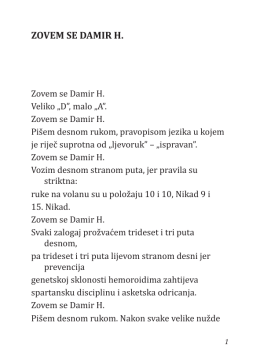 ZOVEM SE DAMIR H.