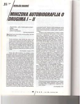 Mihizova Autobiografija o drugima I-II