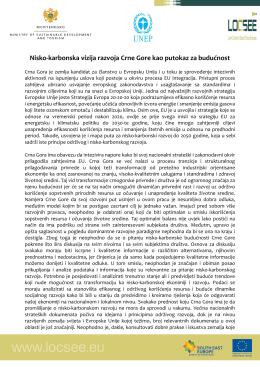 Nisko-karbonska vizija razvoja Crne Gore kao putokaz za budućnost