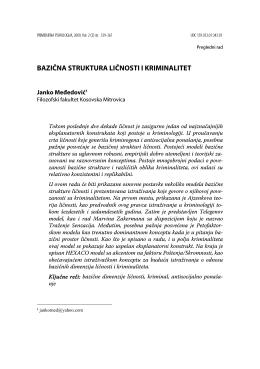 bazična struktura ličnosti i kriminalitet