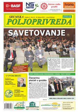Sremska poljoprivreda broj 10 22. februar 2013.
