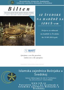 Bilten br. 2 - Islamska zajednica Bošnjaka u Švedskoj