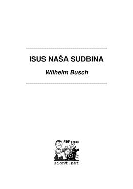ISUS NASA SUDBINA / Wilhelm Busch