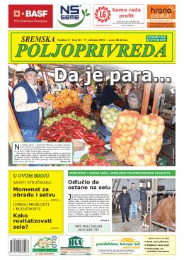 Sremska poljoprivreda broj 25 11. oktobar 2013.