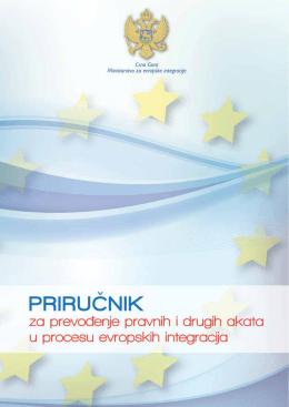 priručnik za prevođenje pravnih i drugih akata u procesu evropskih