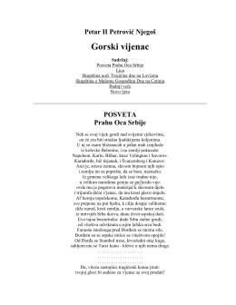 pdf gorski vijenac