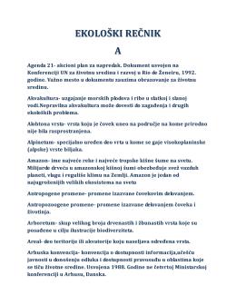 Ekološki Rečnik PDF